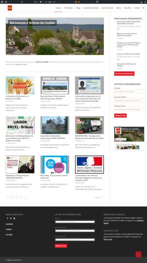 Site internet de Brières, réalisé par Hugues Trousseau