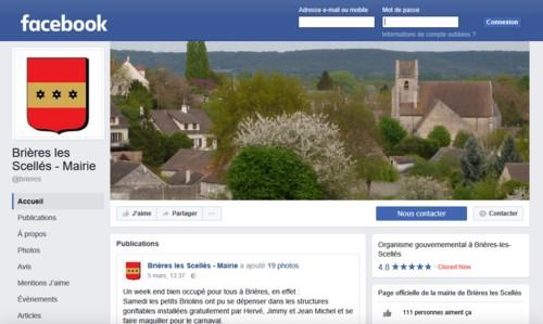 Page Facebook de Brières les Scellés