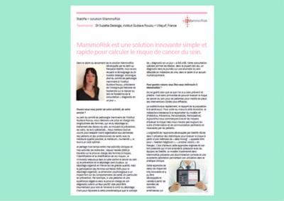 Témoignage client – MammoRisk