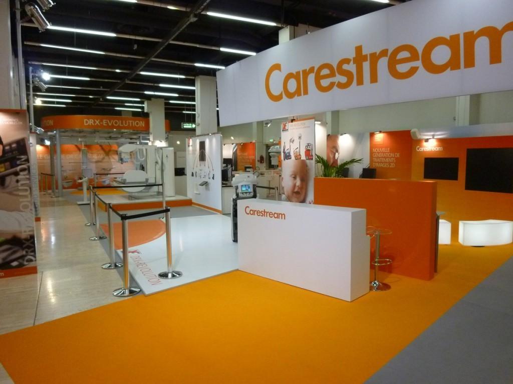 Stand Carestream aux JFR, réalisé par Hugues Trousseau