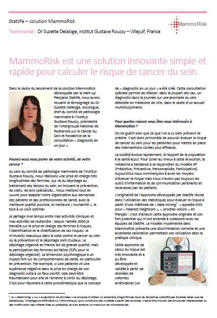 Site MammoRisk réalisé par Hugues Trousseau
