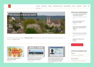 Site internet de la Mairie de Brières les Scellés