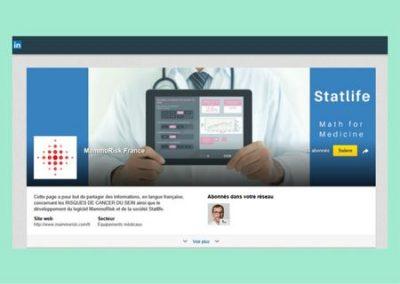 Page Entreprise de MammoRisk sur LinkedIn