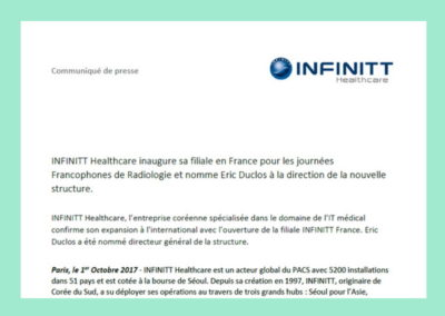 Communiqué de presse – Infinitt
